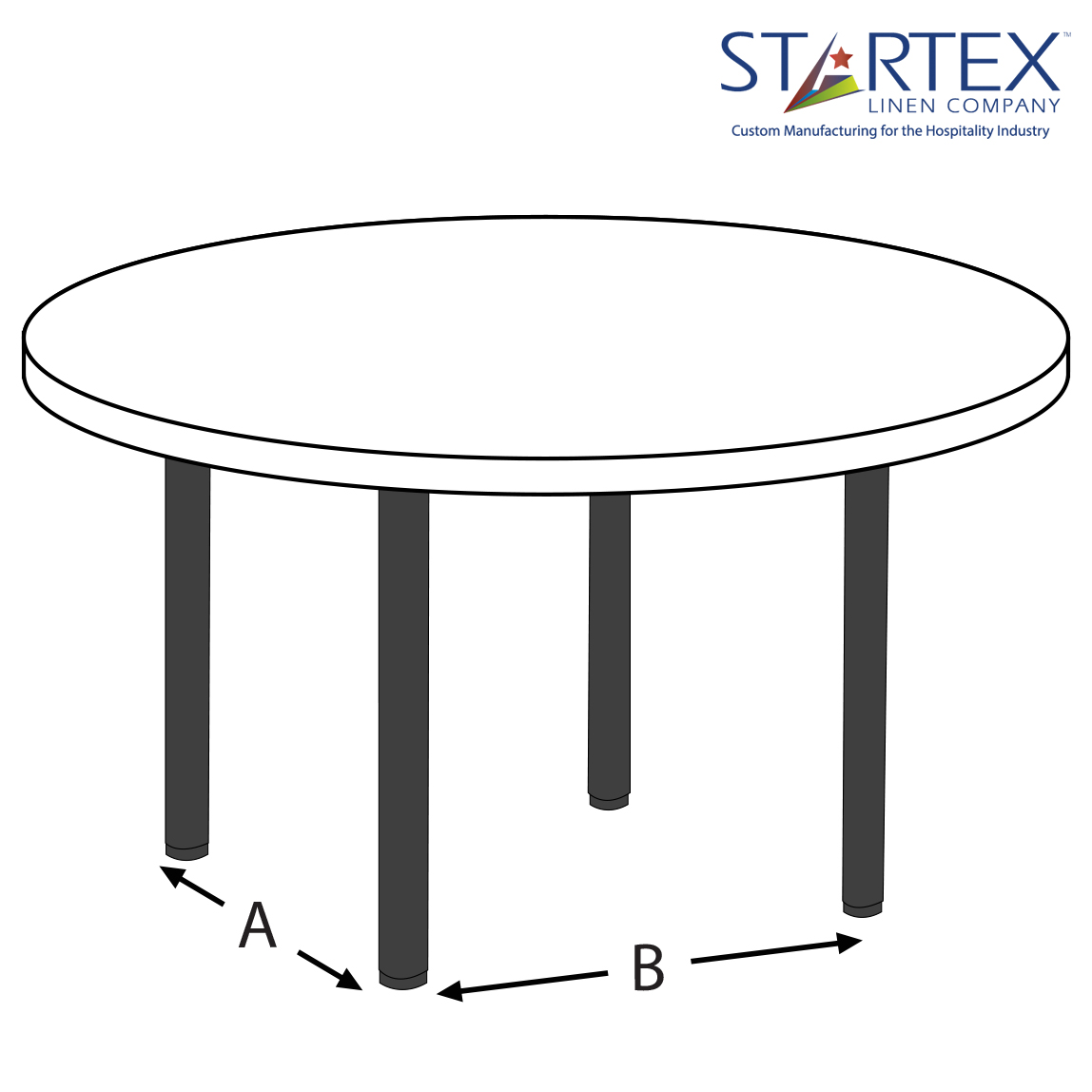 Cocktail tables size startex linen company for Cocktail tables measurements