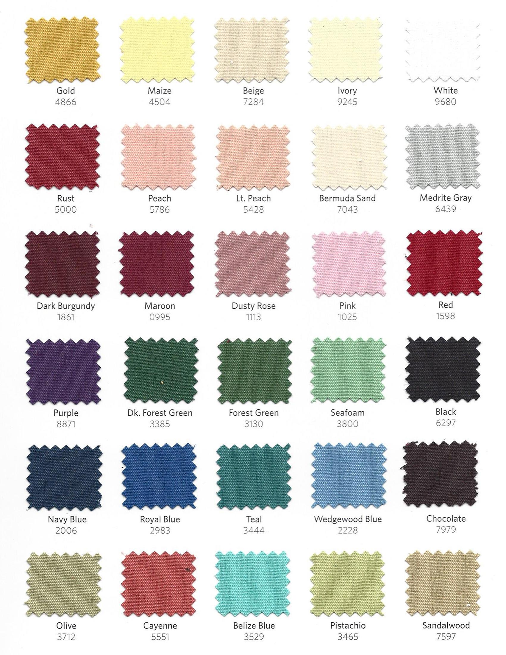 Table Linen Color Chart Brokeasshome Com