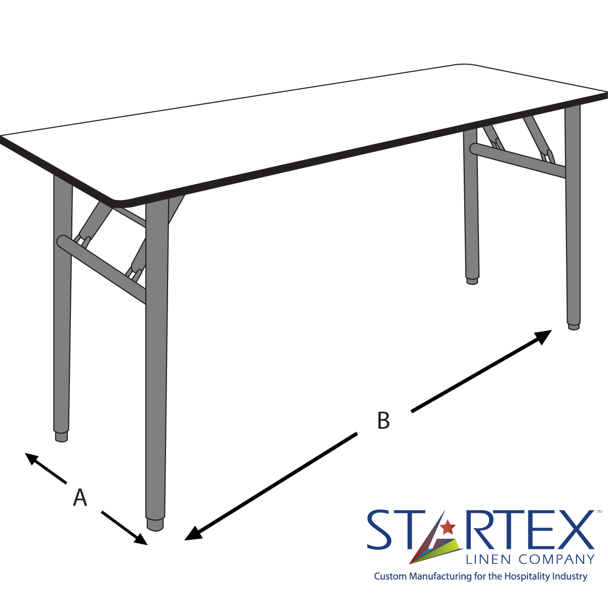 Banquet Tables Size StarTex Linen Company - Banquet table measurements
